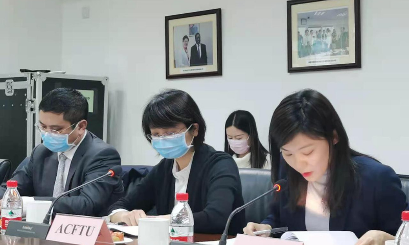 Chinese officials are seen during the fifth meeting of the Joint Working Group on Industrial Cooperation under CPEC. — Photo courtesy Radio Pak