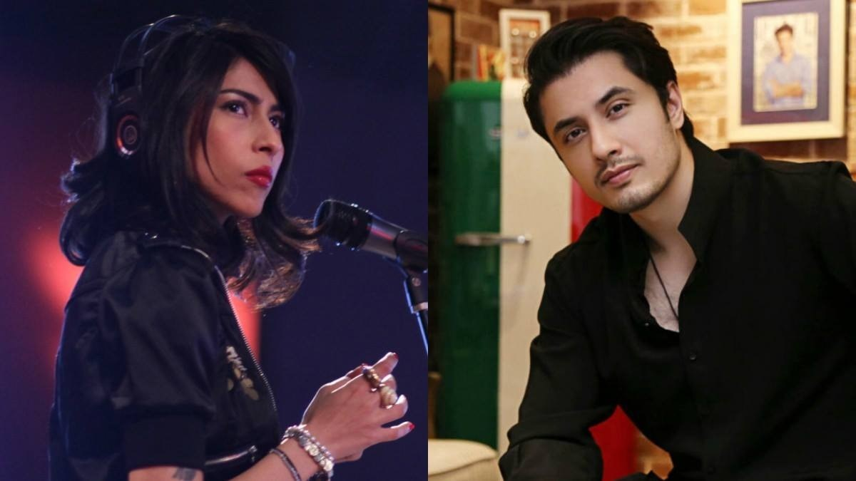 This combination photo shows singer Meesha Shafi and singer-actor Ali Zafar. — File