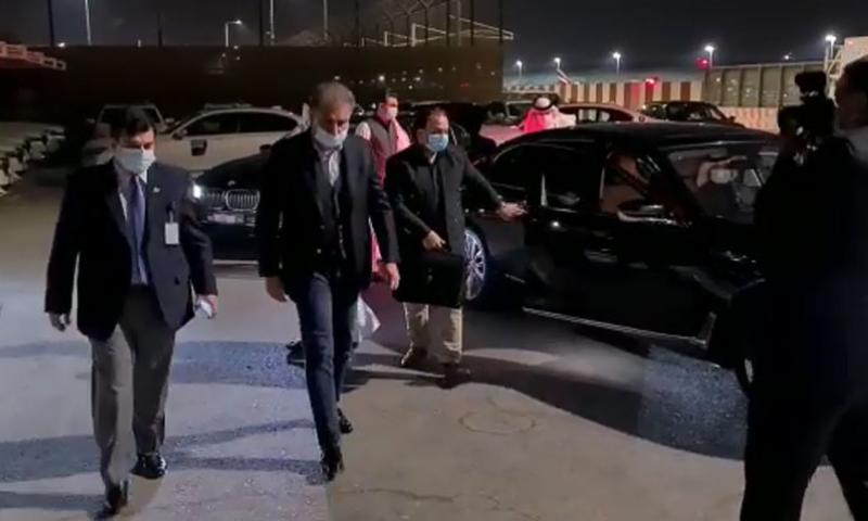 Foreign Minister Shah Mahmood Qureshi arrives in the United Arab Emirates on Thursday. — Photo courtesy RadioPak