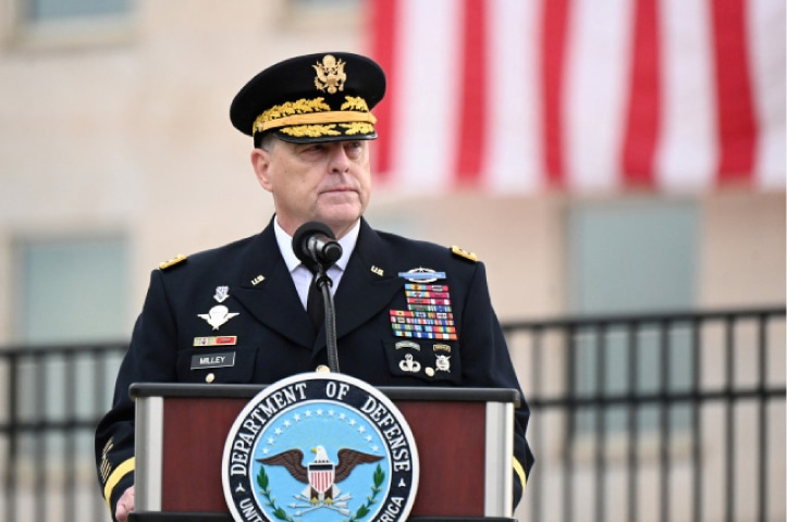 Gen Mark Milley, Chairman of the US Joint Chiefs of Staff.—Reuters