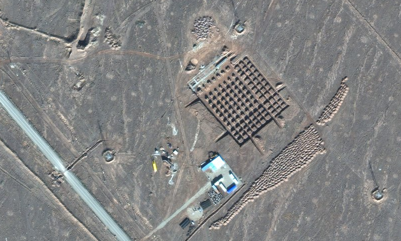 This December 11, 2020, satellite photo by Maxar Technologies shows construction at Iran's Fordo nuclear facility. — AP