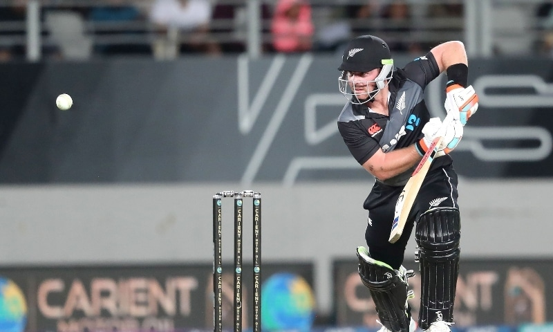 New Zealand's batsman Tim Seifert plays a shot during the first T20 international cricket match between New Zealand and Pakistan at Eden Park in Auckland on December 18. — AFP