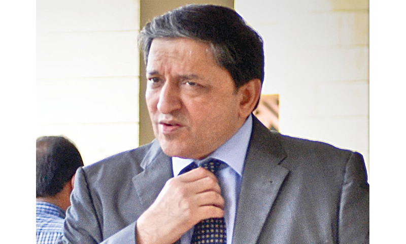 The National Accountability Bureau (NAB) on Friday submitted a report to the accountability court of Islamabad, reaffirming allegations against Senate Deputy Chairman Saleem Mandviwalla (pictured) in connection with the fake bank accounts case. — Dawn/File