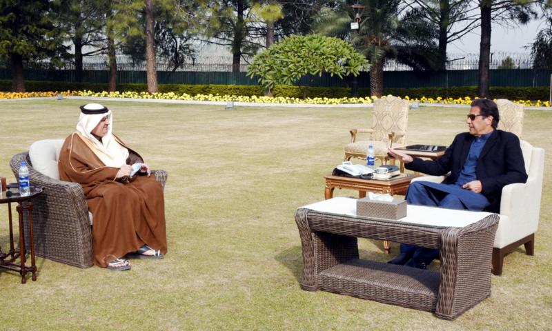 Saudi Ambassador Nawaf bin Saeed Al-Maliki calls on Prime Minister Imran Khan on Monday. — PID