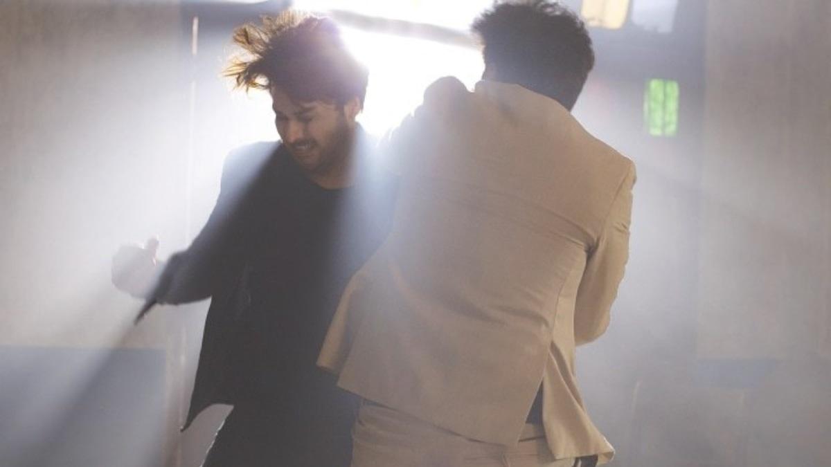 Ahsan Khan and Yasir Nawaz in a fight scene