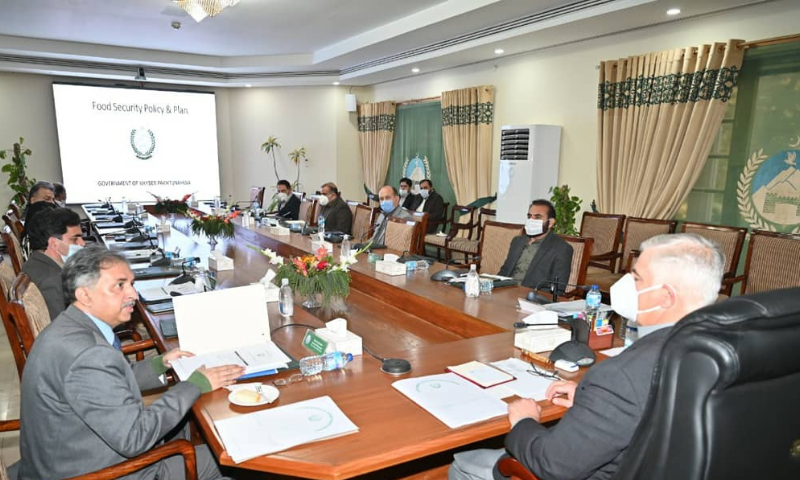 Chief Minister Mahmood Khan on Wednesday approved the first-ever food security policy for Khyber Pakhtunkhwa, consisting of short, medium and long terms planning. — Photo courtesy KP CM Twitter