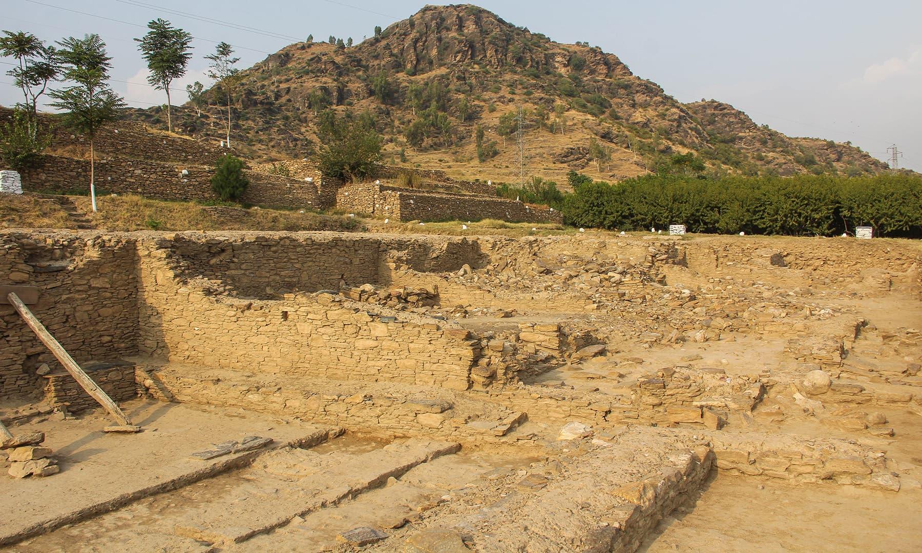 سکندر اعظم کے شہر بازیرہ کی تصویر جس کے عقب میں 'غونڈئی' نمایاں ہے