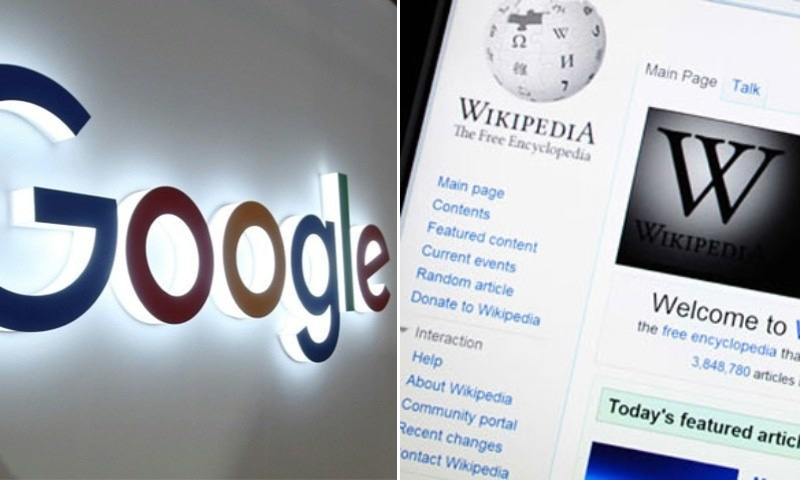 """The Pakistan Telecommunication Authority (PTA) on Friday issued notices to Google Inc and Wikipedia for """"disseminating sacrilegious content"""" through the two platforms.— Photos AFP"""