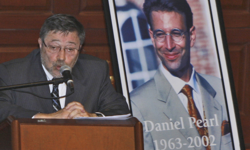 In this file photo, Dr Judea Pearl, father of American journalist Daniel Pearl, who was killed by terrorists in 2002, speaks in Miami Beach, United States. — AP