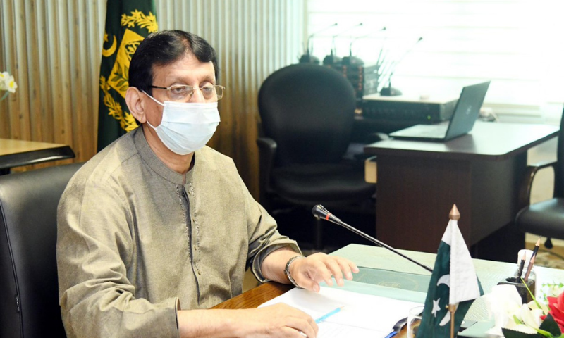 Minister for IT & Telecommunication Syed Amin ul Haque on Friday said that the IT sector has to harness the potential arising out of the digital shift due to the pandemic and achieve $5 billion export target by the end of FY23. — Photo courtesy: Radio Pakistan