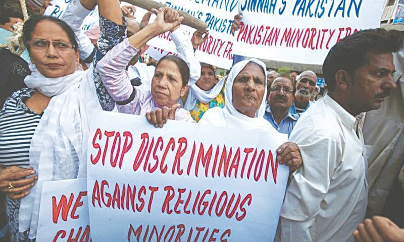 Protestors demand an end to discrimination against Pakistan's religious minorities   Reuters