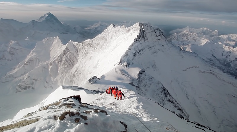 Almost at the top, Breathtaking: K2 the World's Most Dangerous Mountain