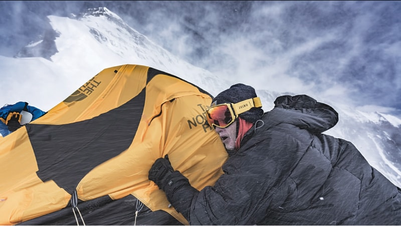 Holding down tents during a storm, 'The Ghosts Above'