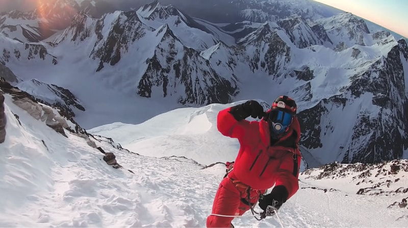 Carla Perez near the top, 'Breathtaking: K2 The World's Most Dangerous Mountain'