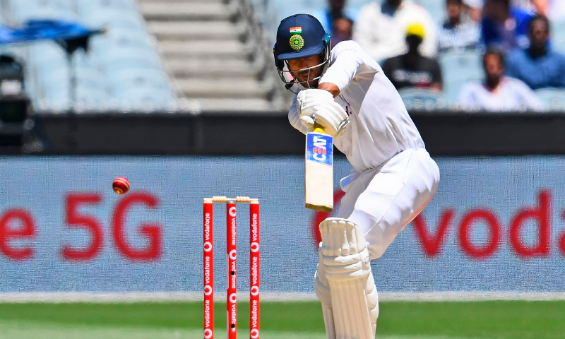 India's Mayank Agarwal snicks a delivery and is caught on the fourth day of the second cricket Test match between Australia and India at the MCG in Melbourne on Tuesday. — AFP