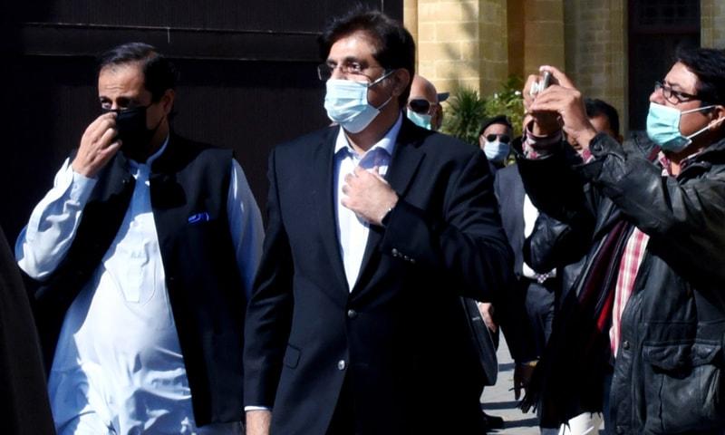 مراد علی شاہ عدالت عظمیٰ میں پیش ہوئے—تصویر: ٹوئٹر