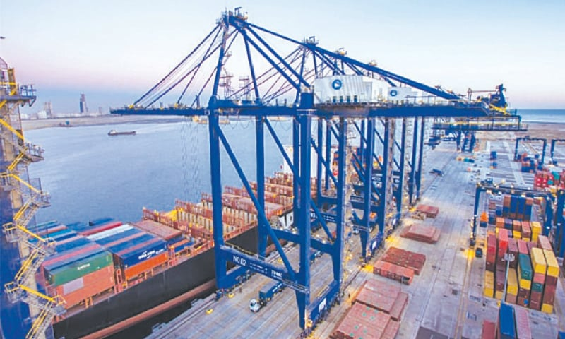A view of Pakistan Deep Water Container Terminal at Keamari is seen in this file photo.