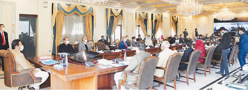 PRIME Minister Imran Khan chairing the meeting of the federal cabinet on Tuesday.—PPI