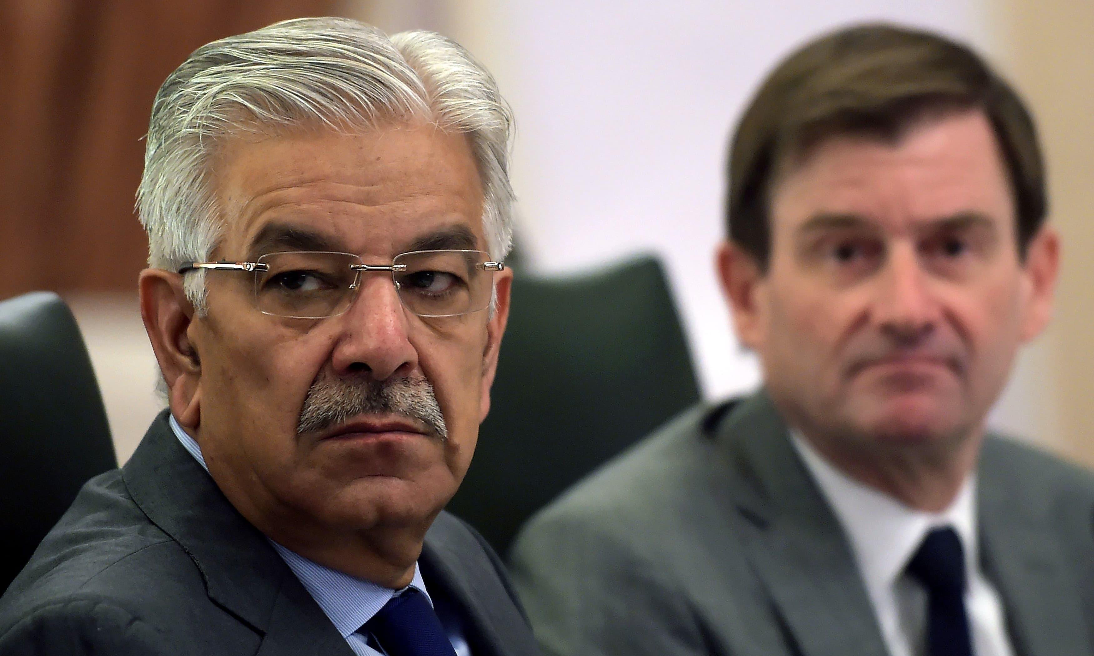 PML-N leader and MNA Khawaja Asif — AFP/File