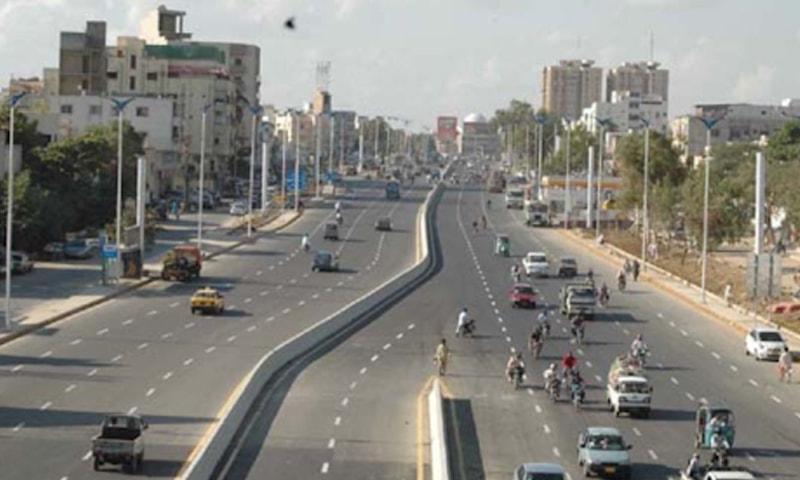 شاہراہ قائدین کا ایک بالائی منظر—فائل تصویر: کے ایم سی ویب سائٹ