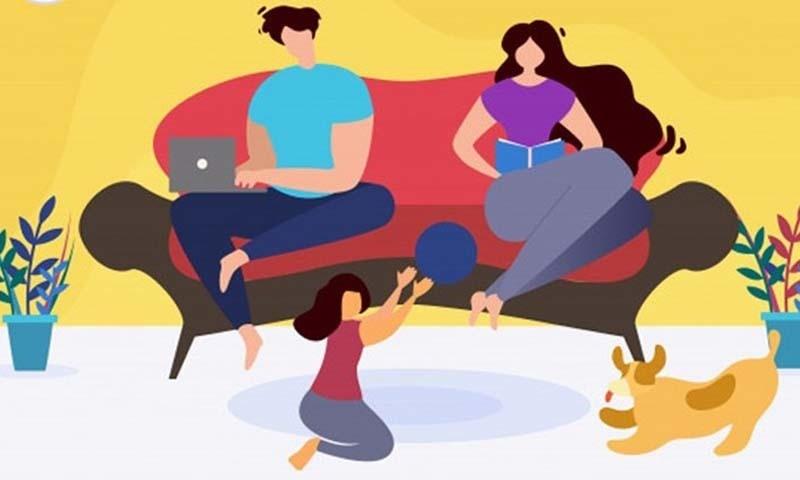 ورک فرام ہوم کے نتیجے میں خاندانی زندگی بھی متاثر ہوئی