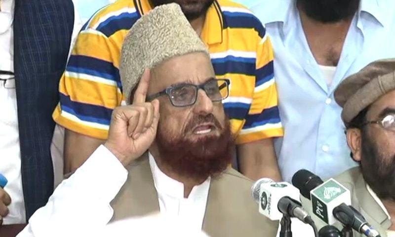 In this file photo,  Mufti Muneeb-ur-Rehman addresses a press conference. — DawnNewsTV/File
