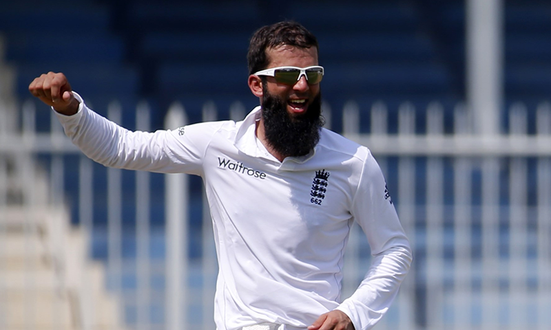 England all-rounder Moeen Ali gestures during a Test match. — AFP/File