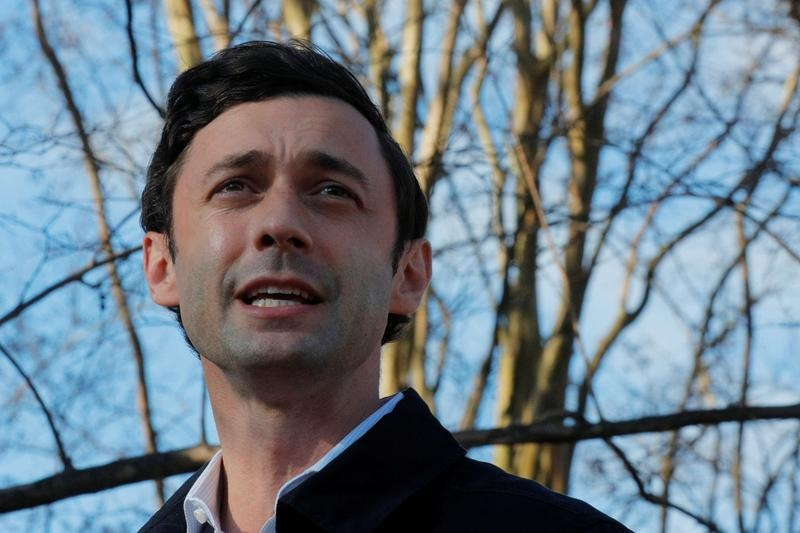 Democrat Jon Ossoff claimed victory on Georgia's second Senate seat on Wednesday. — Reuters