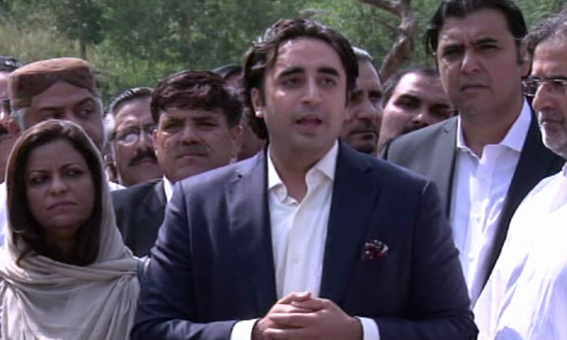 """All the central office-bearers of the Pakistan Peoples Party (PPP), including its chairman Bilawal Bhutto-Zardari, have been """"re-elected"""" for another four-year term without having any contest. — DawnNewsTV/File"""
