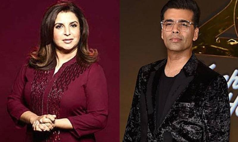 فرح خان اور کرن جوہر بولی وڈ کے بااثر ترین افراد میں شمار ہوتے ہیں—فائل فوٹو: فیس بک / انسٹاگرام