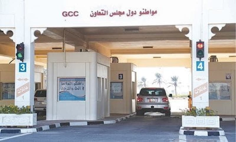 Cars move at Qatar's Abu Samra border crossing with Saudi Arabia after the two countries restored ties and opened borders on Saturday.—Reuters