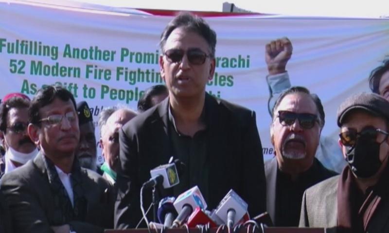 کراچی گرین لائن اگست تک فعال ہوجائے گی، اسد عمر