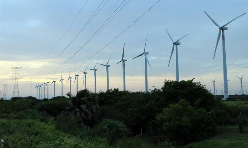 Sindh is considered a haven for wind energy, with perfect wind conditions, primarily in Thatta.— AFP/File