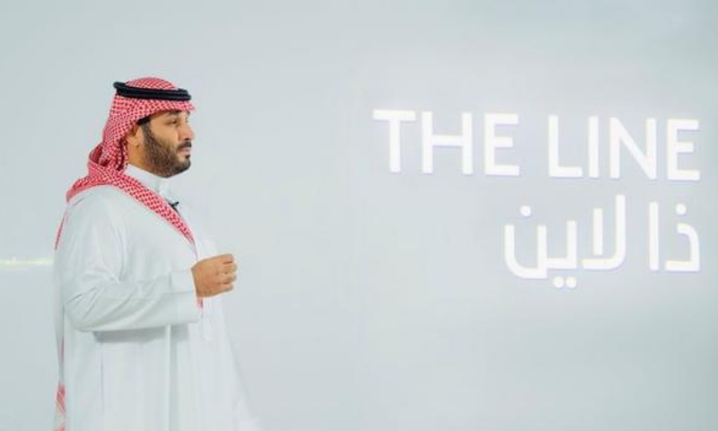 "Saudi Crown Prince Mohammed Bin Salman announces a zero-carbon city called ""The Line"" to be built at Neom in northwestern Saudi Arabia on Jan 10. — Reuters"