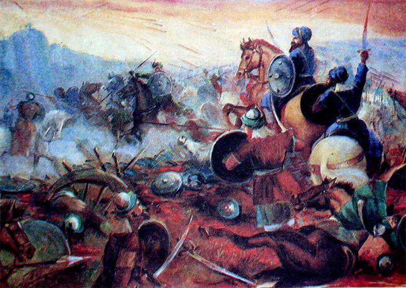جنگِ چوسہ کا منظر