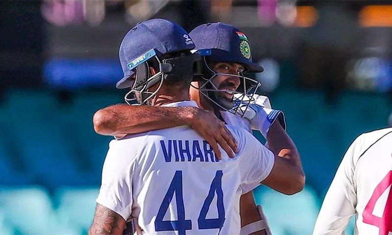 بھارت اعصاب شکن مقابلے کے بعد سڈنی ٹیسٹ ڈرا کرنے میں کامیاب