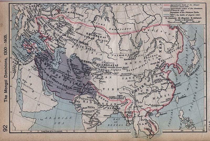 13ویں صدی میں منگولوں کے حملوں کی وجہ سے بڑی تعداد میں ترک وسط ایشیا میں آباد ہوئے