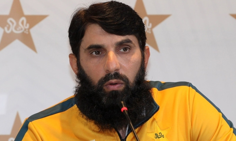Pakistan head coach Misbahul Haq speaks during a press conference in Lahore on January 11. — AFP