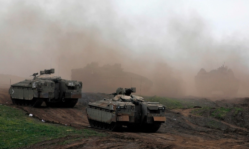 Israeli troops are pictured during a military drill in the Israeli-annexed Golan Heights on January 13, 2021. — AFP