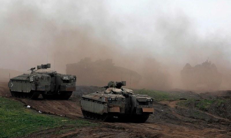 اسرائیل نے کارروائی میں اس جگہ پر کارروائی کی جہاں اسلحے منتقل کیا گیا تھا—فوٹو: اے ایف پی