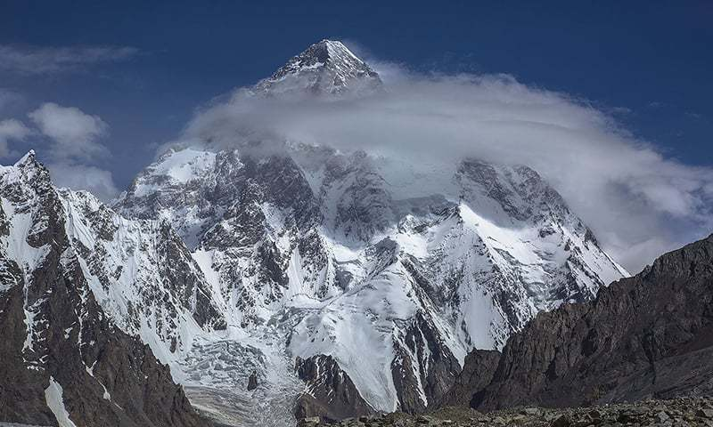 An avalanche and gusty winds destroyed tents of the international climbers at the Camp 2, forcing them to abandon the K2 summit plan for the time being. — File photo provided by Imad Brohi