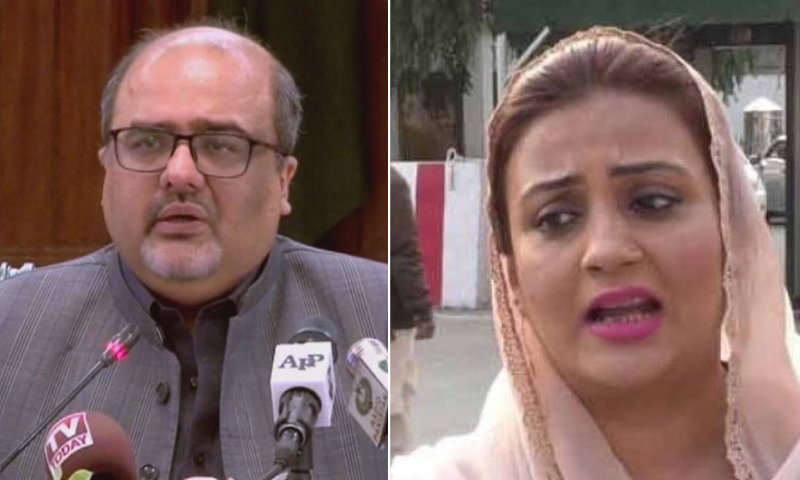 Adviser to the Prime Minister on Interior and Accountability Mirza Shahzad Akbar said on Thursday he had served a legal notice to PML-N leader Uzma Bukhari. — DawnNewsTV/File