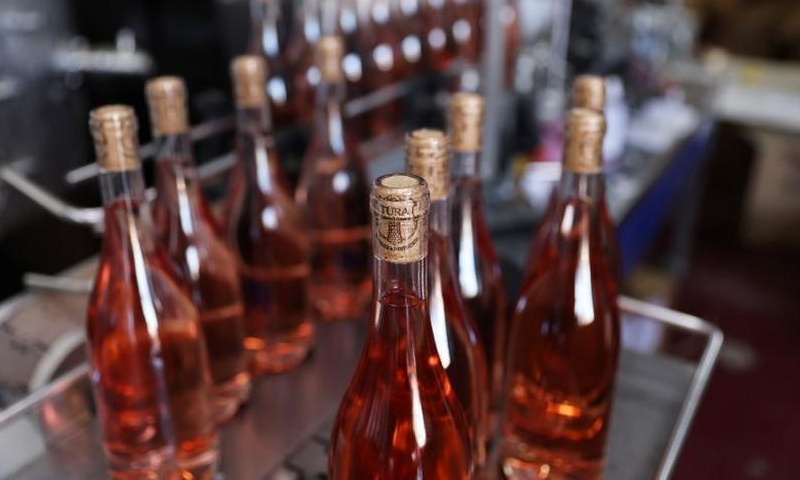 Wine bottles are seen at Tura Winery in Rehelim, an Israeli settlement in the occupied-West Bank Jan 12, 2021. — Reuters