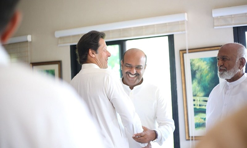In this file photo, Prime Minister Imran Khan (left) meets Nadeem Afzal Chan. — Photo courtest: Fahad Chaudhry