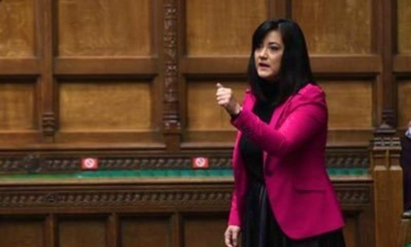Labour party's Sarah Owens urges UK govt to take a position against Kashmir's illegal annexation.— Photo courtesy: Twitter
