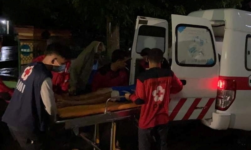An injured person is being moved into an ambulance following an earthquake in Mamuju, West Sulawesi, Indonesia, Jan 15, 2020. — Reuters