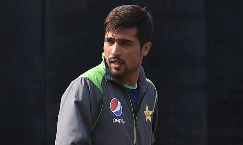 محمد عامر موجودہ ٹیم مینجمنٹ کے ساتھ نہ کھیلنے کے اپنے فیصلے پر قائم ہیں — فائل فوٹو: اے ای پی