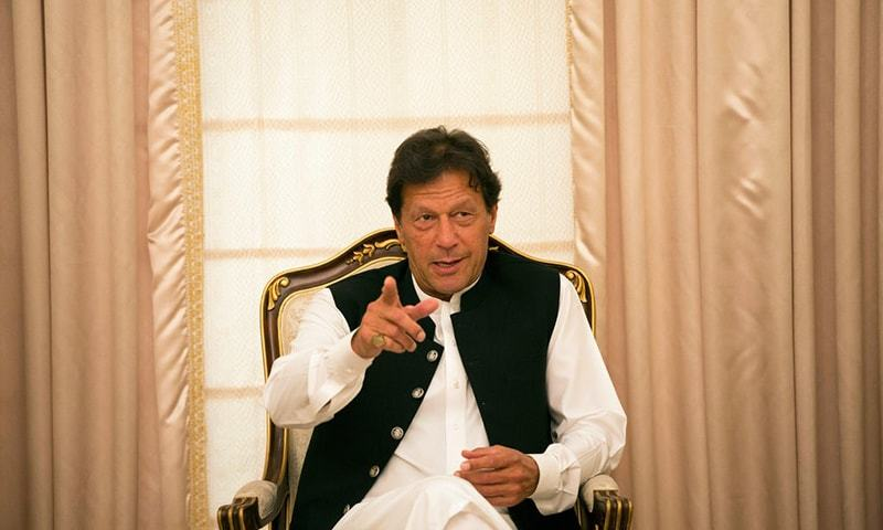 Prime Minister Imran Khan says he never asked his spokesperson Nadeem Chan to resign. — The New York Times/File