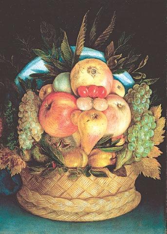 Fruit Basket (1590), Guiseppe Arcimboldo