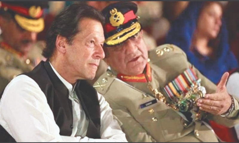 Prime Minister Imran Khan with Army Chief Gen Qamar Javed Bajwa | Photo via Twitter